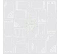 Ацетатный лист с тегами ISABELLA (Rise&Shine) от American Crafts