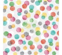 Двусторонний лист 30х30 с розовым фольгированием RISE & SHINE от American Crafts
