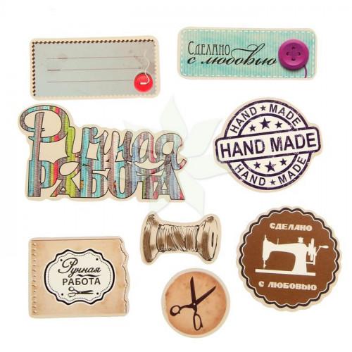 Набор  декоративных элементов «Ручная работа» от АртУзор