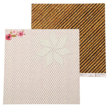 Двусторонний лист 30х30 «Звездная пыль» из коллекции «Звездное сияние» от АртУзор