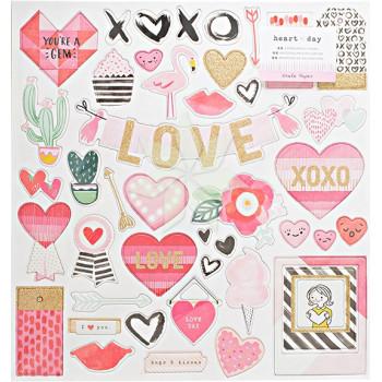 Чипборд HEART DAY от Creat Paper (Polkadot)