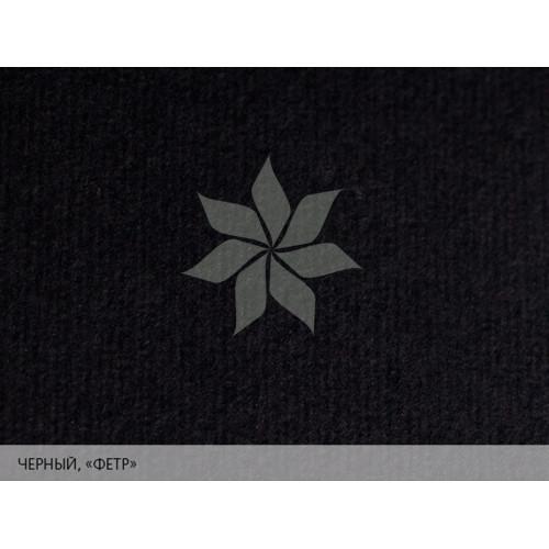 """Дизайнерская бумага 25х35 Черный с тиснением """"фетр"""" MURILLO от FABRIANO"""