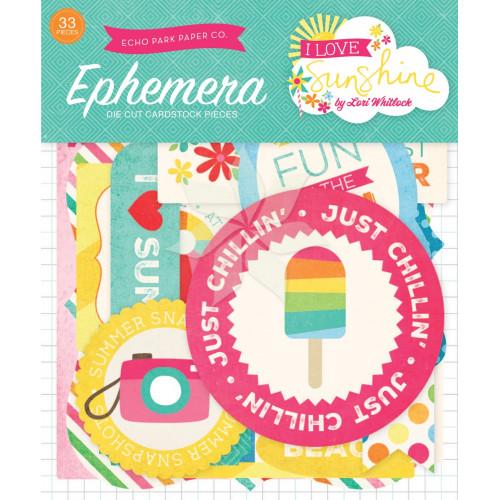 Набор бумажных высечек из коллекции «I Love Sunshine» от Echo Park