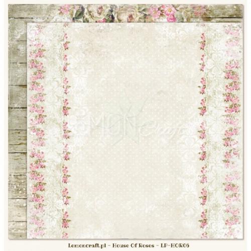 Двусторонний лист 30х30 «06» из коллекции «House of Roses» от Lemon Crafts
