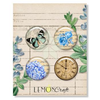 Набор фишек из коллекции «Basic Gossamer Blue» от Lemon Crafts