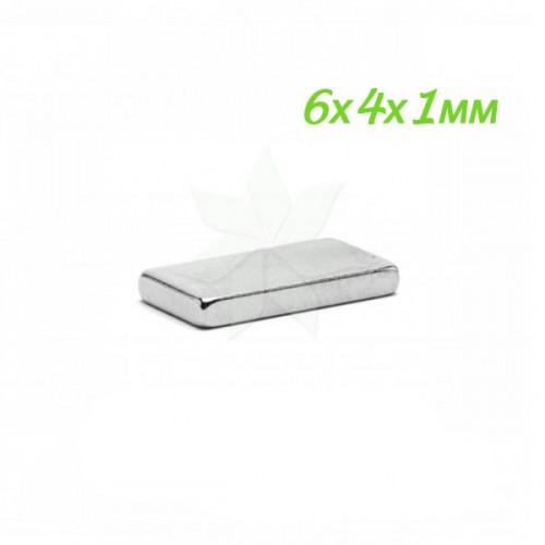 Неодимовый магнит 6х4х1 мм