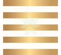 Односторонний лист в широкую полоску с золотым фольгированием от Pebbles