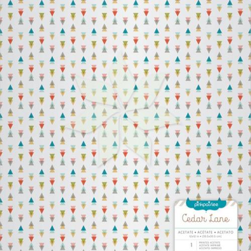 Ацетатный лист «Разноцветные треугольники» из коллекции «Cedar Lane» от Pink Paislee
