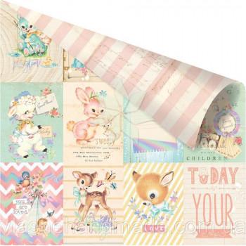 Двусторонний лист 30х30 Карточки «Welcome Baby» коллекции «Heaven Sent 2» от PRIMA Marketing