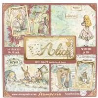 Набор бумаги 30х30 с фольгированием ALICE (22 листа) от Stamperia