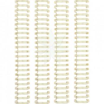 """Набор пружин GOLD 1"""" (2,54 см) для брошюровщика от WRMK (4/PKG)"""