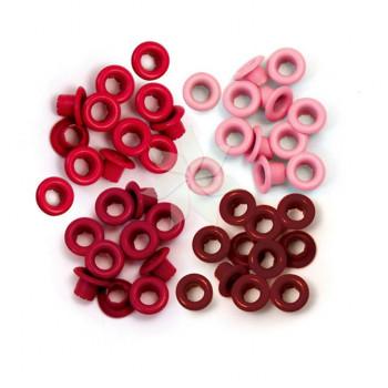 Люверсы стандартные Красные (Red) от WRMK (60 шт.)
