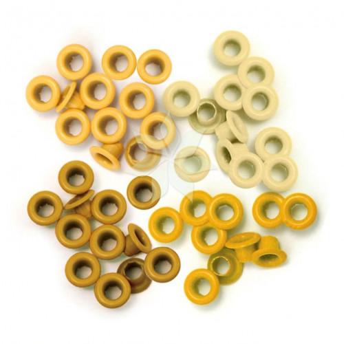 Люверсы стандартные Желтые (Yellow) от WRMK (60 шт.)