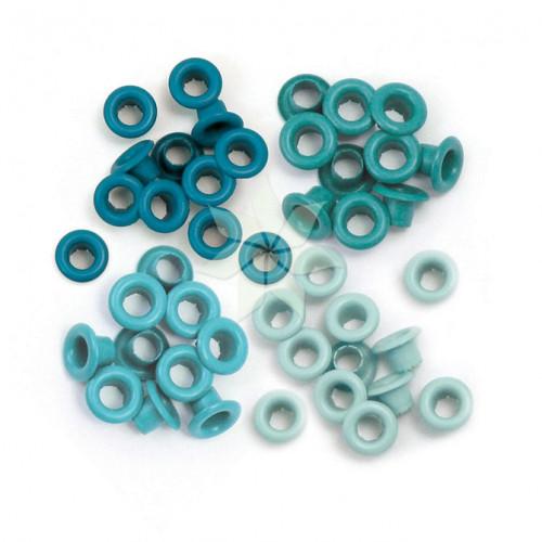 Люверсы стандартные Бирюзовые (Aqua) от WRMK (60 шт.)