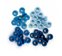 Люверсы стандартные Голубые (Blue) от WRMK (60 шт.)