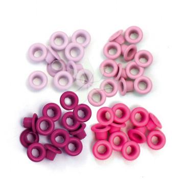 Люверсы стандартные Розовые (Pink) от WRMK (60 шт.)