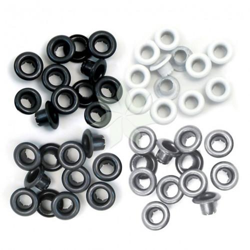Люверсы стандартные Серые (Grey) от WRMK (60 шт.)