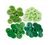 Люверсы широкие Зеленые (Green) от WRMK (40 шт.)