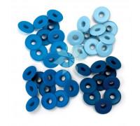 Люверсы широкие Голубые (Blue) от WRMK (40 шт.)