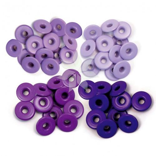 Люверсы широкие Фиолетовые (Purple) от WRMK (40 шт.)