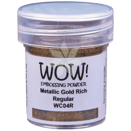 Пудра для эмбоссинга Metallic Gold (Золотой металлик) Rich (R/O) от WOW!