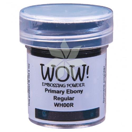 Пудра для эмбоссинга Primary Ebony (Черное дерево) (R/T) от WOW!