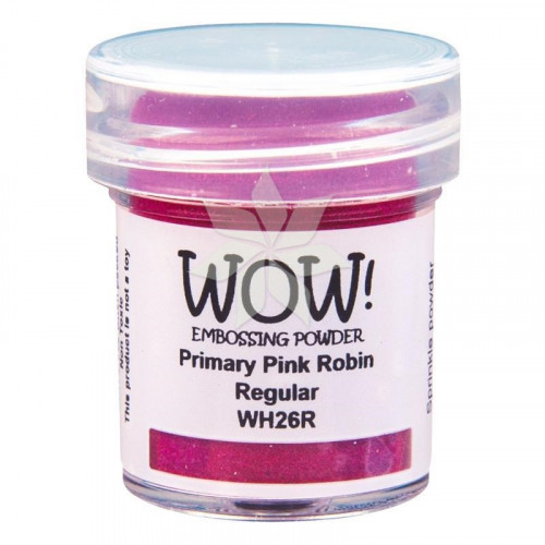 Пудра для эмбоссинга Primary Pink Robin (Розовый Робин) (R/T) от WOW!