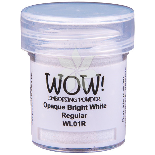 Пудра для эмбоссинга Opaque Bright White (Ярко-белый) (R/O) от WOW!