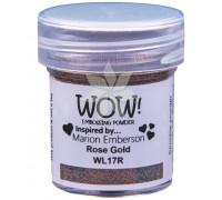Пудра для эмбоссинга Rose Gold (Розовое золото) (R/O) от WOW!