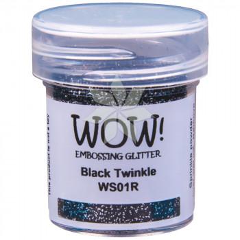 Пудра для эмбоссинга Black Twinkle (Черное мерцание) (R/T) от WOW!