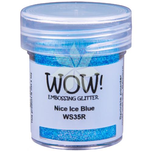 Пудра для эмбоссинга Nicwe Ice Blue (Приятный голубой лед) (R/OM) от WOW!